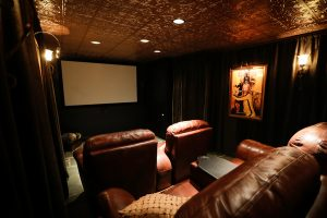 Movie Room at our Louisville Vacation Rental