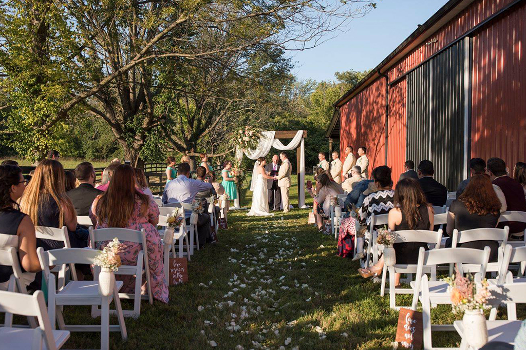 Intimate Ceremony at our Louisville Wedding Venue