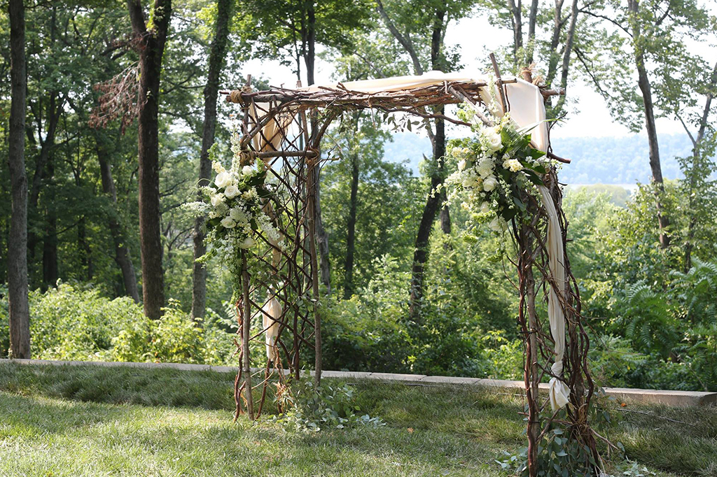 Arch at our Louisville Wedding Venue